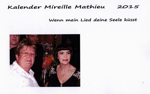 Kalender Mireille Mathieu 2015