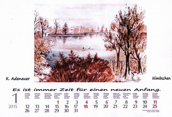 Und noch unser Heimatkalender 2015 / Monatsspruch