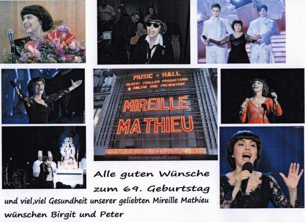 Mireille Mathieu  69. Geburtstag