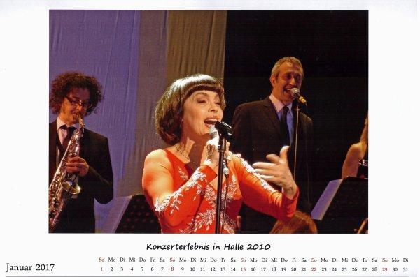 Kalender Mireille Mathieu    Jan. 2017