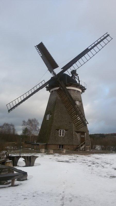 Abschied von der Insel   Holländermühle in Benz