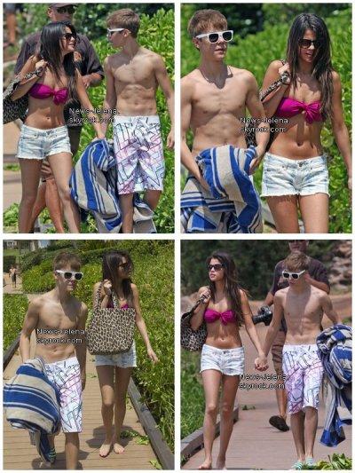 Justin et Sélèna à Hawaii