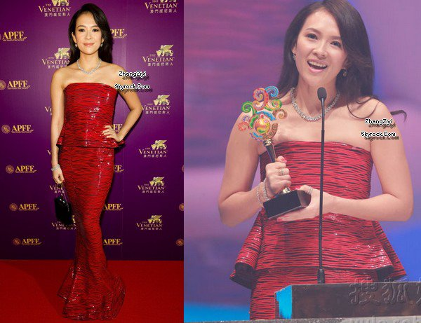 Zhang wins the best actress award at APFF