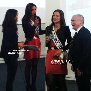 15/02/13: Marine a rendu une petite visite au Lycée d'Ozoir de la Ferrière !