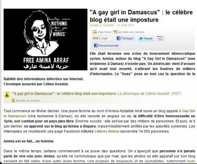 A gay girl in Damascus