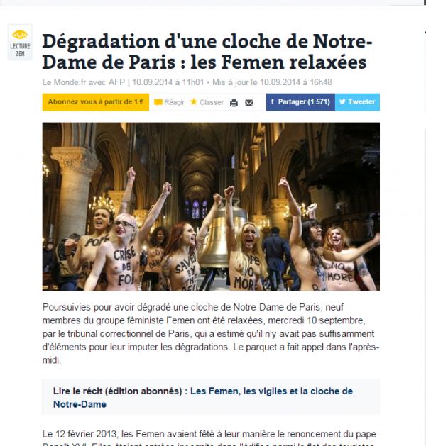 Jésus est  ......Femen.... ?