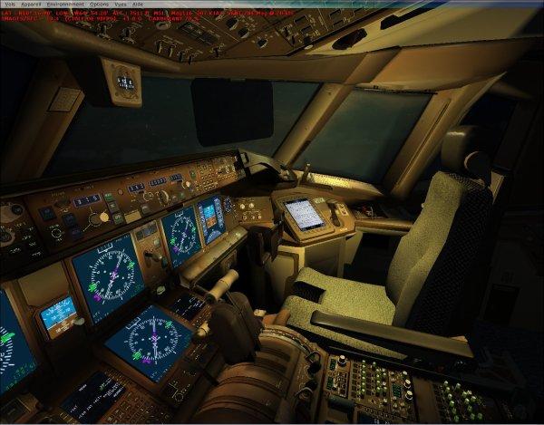 Cockpit d 39 un boeing 777 300er air france blog des samudo for Interieur 777 air france