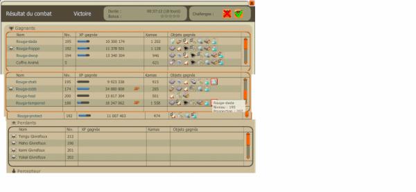 petit screen de mon tengu avec un challenge mignon
