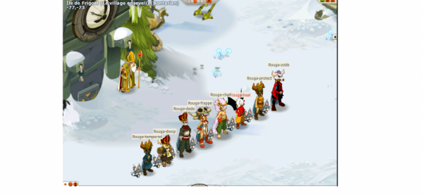 Screenshots de la team et récapitulatif  des lvl