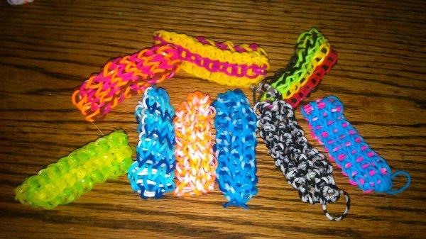 Mes bracelets a 3 rang