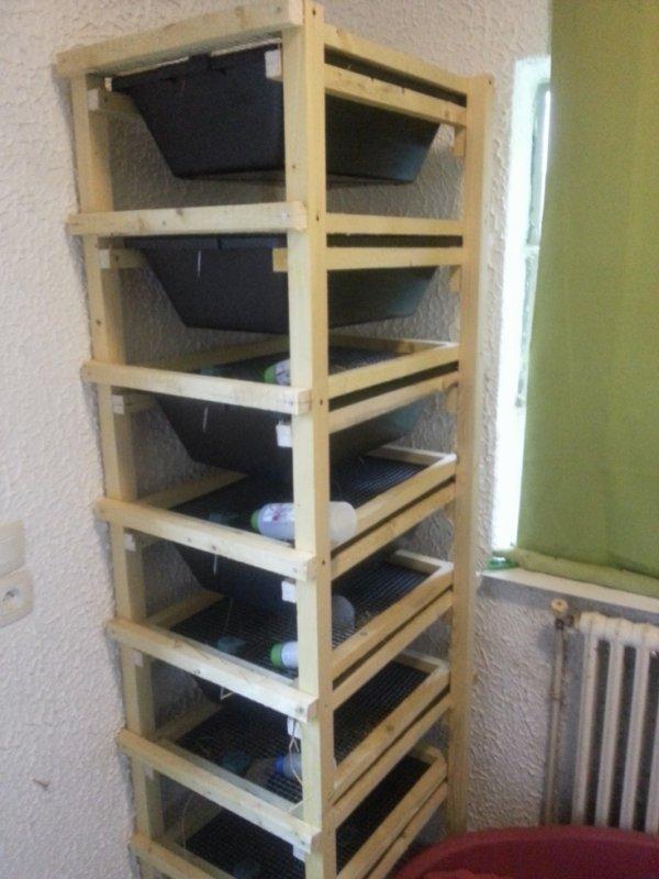Deuxième rack a rats terminé