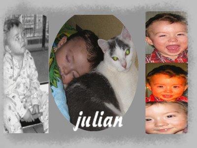 Julian,mon plus beau cadeau :D, l amour de ma vie :D mon ptii bad boy, le pti mec que j aimeraii tout ma vieee, qui sera toujour a mes côté , a toi mon ptii ange :) maman t aime tres fort