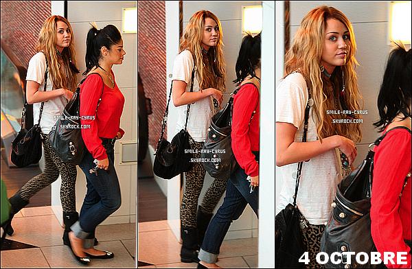/ 04/10/10 xLe même jour, miley Peace and Love est allés faire du Shopping au Beverly Center avec sa coiffeuse05/10/10 xMiley s'est rendue dans la boutique Barneys New York à Beverly Hills. Le Clip WOMH sortira le 08/10/10 à 7h.