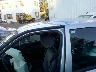 voici ma voiture apres notre accident de samedi