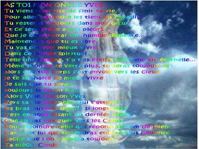 hommage a mon oncle Yves qui viens de monter dans les cieux se 29/10/2010