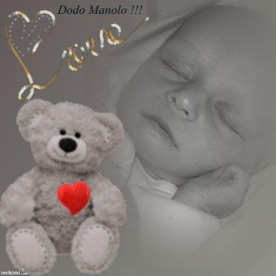 un ange dort voici manolo notre fils né se 24 janvier 2010
