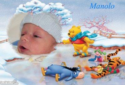 mon fils manolo né le lundi 24 janvier a 12h30 on t aime