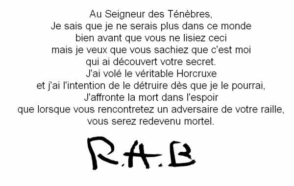 Lettre de R.A.B