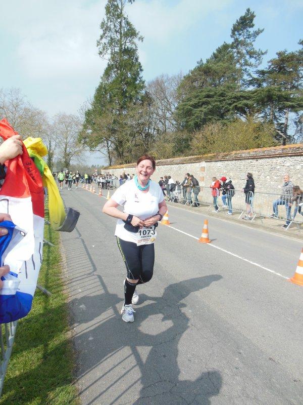 Pascale, son premier marathon.