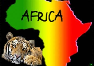 Couleur De L Afrique.Carte De L Afrique Tout En Couleur Avec Un Rominet