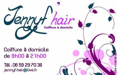 JENNYF HAIR COIFFURE A DOMICILE BORDEAUX 06 59 29 70 38 CARTE DE VISITE