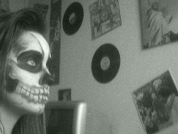 Maquillage halloween 1.