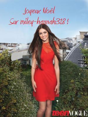 Joyeux Noël Sur Miley-hannah318 !