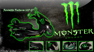 Revatto Futura 125 GT Monster Energy