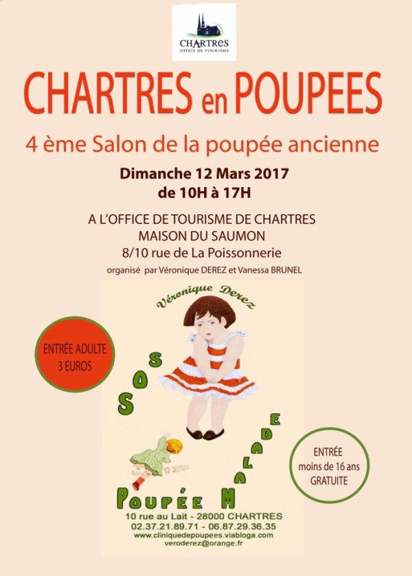 """""""Chartres en Poupées 2017"""" 4ème Salon de la poupée ancienne"""