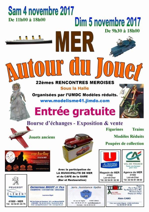 """22ème Salon """"Autour du Jouet"""" à Mer (41)"""