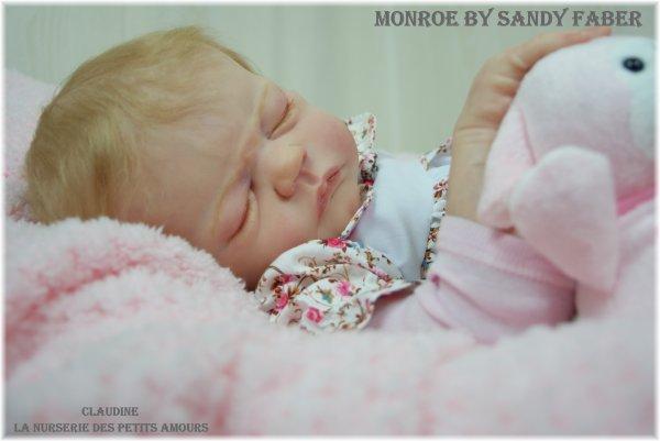 NOUVEAU BEBE REBORN , MONROE DE SANDY FABER ADOPTEE (USA)