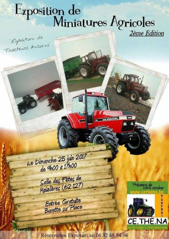 Exposition de miniatures agricoles et de modèle réel a maizieres (62) ce week-end