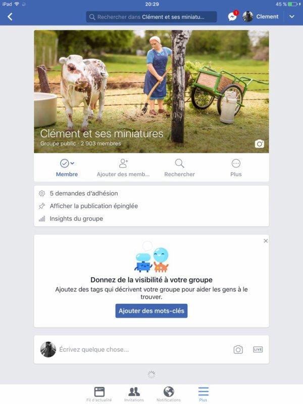 Retrouvez moi aussi sur Facebook ?