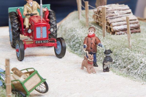 mes diorama à l'exposition de val de saane