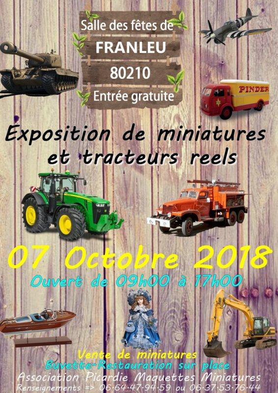 Je serais présent en exposent à l'expo de franleu 80210 le 7 octobre 2018