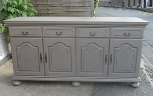 Buffet en ch ne restaur c rus gris annickpeters for Ensemble buffet table manger