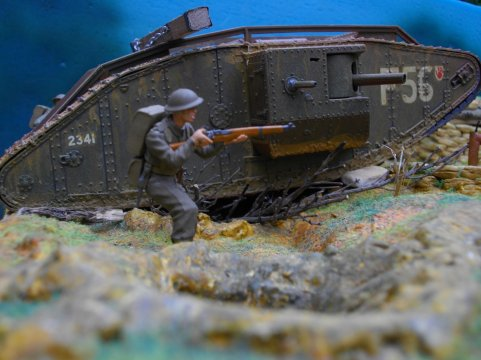 Mk.IV .Male .bataille de cambrai 1917