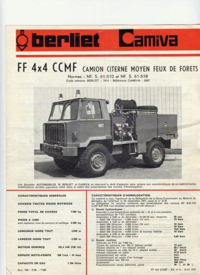 """Historique du CCF BERLIET """" FF 415""""."""