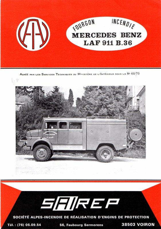 Les FPTR sur châssis MERCEDES LAF 911 B36 4*4.