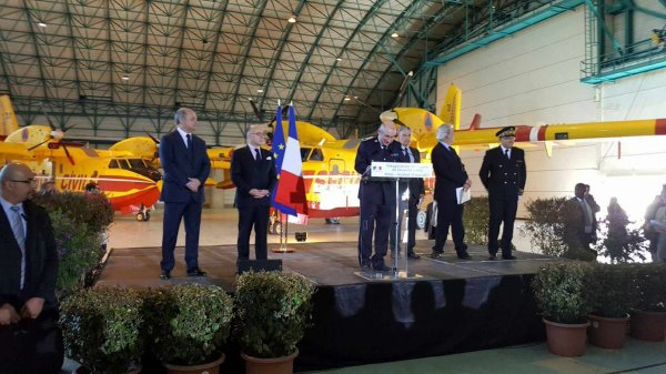 Inauguration de la nouvelle base de la Sécurité Civile à Nîmes-Garon.