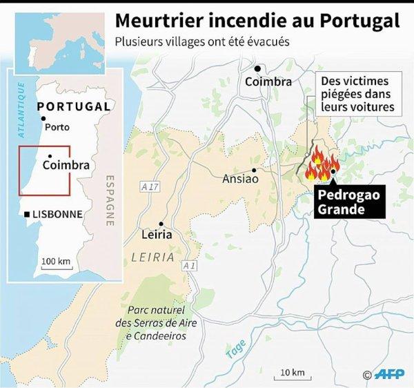 Feu au Portugal, maitrisé.