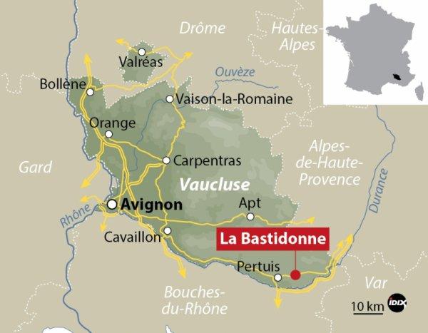 Le détachement Aubois, engagé sur le feu de La Bastidonne (84).