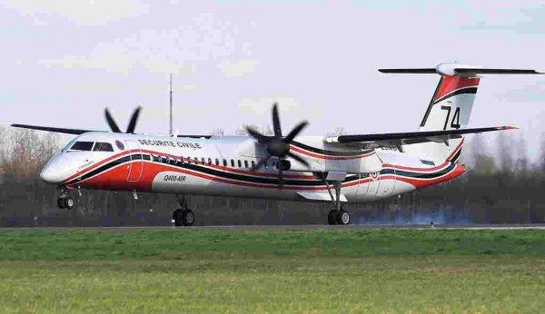 Le Ministre de l'Intérieur annonce l'achat de 6 Dash 8.