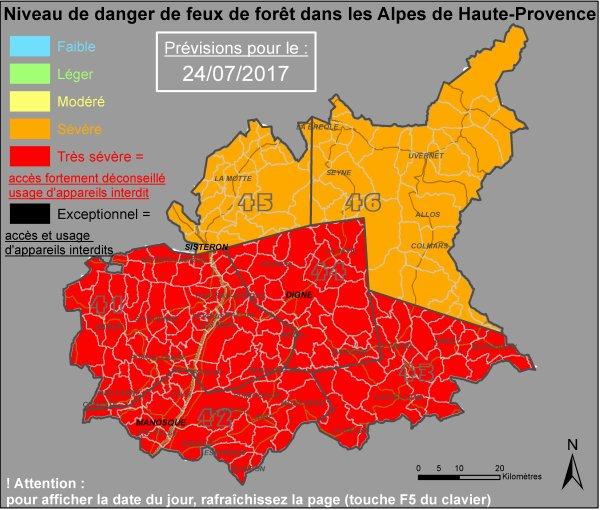 Évaluation météorologique du risque feux foret.