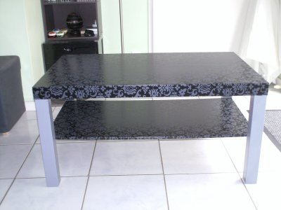 Customisation table basse style baroque rock a bloc - Customiser une table basse ...