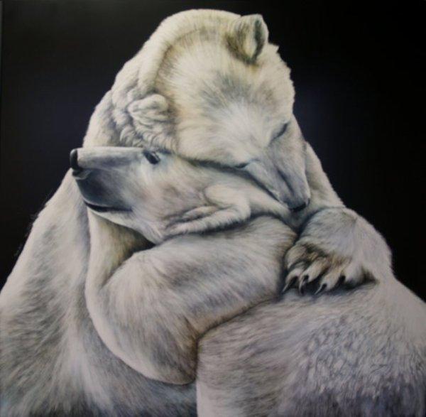 Câlin entre ours^^