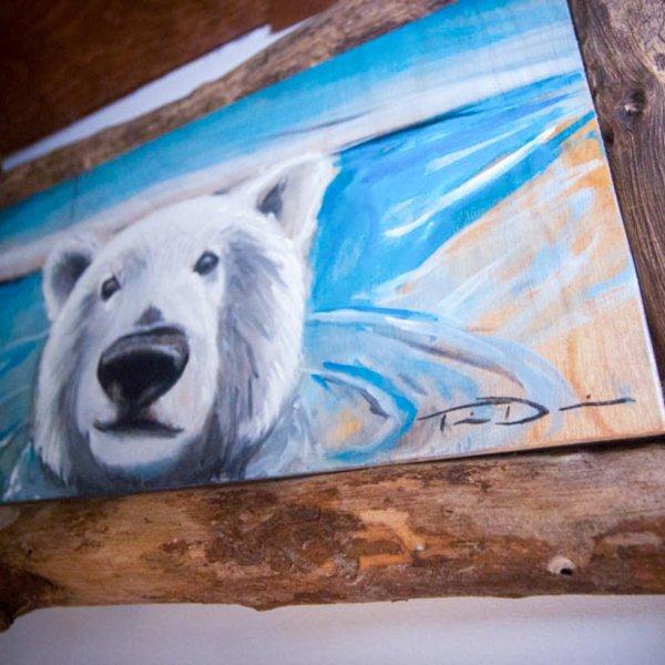 """Peinture d'un ours polaire """"3"""""""