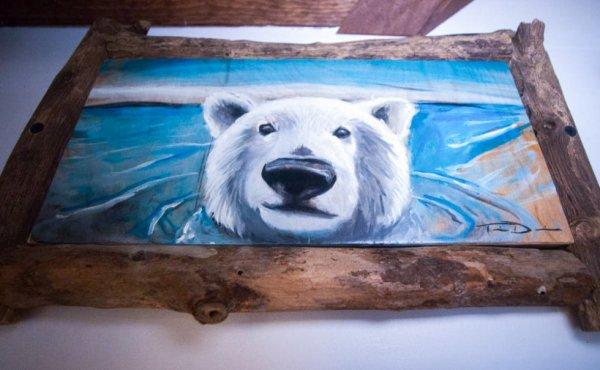 """Peinture d'un ours polaire """"2"""""""