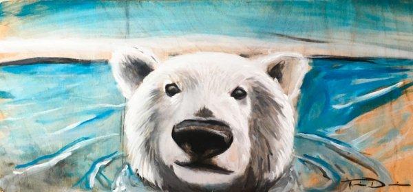 """Peinture d'un ours polaire """"1"""""""