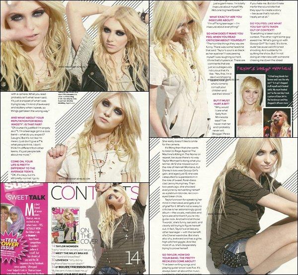 """Voici la suite des scans de Taylor pour l'edition de septembre du magasine """" Sugar """"     .    Personnellement j'aime ces scans Taylor est magnifique & toi ? ; )"""